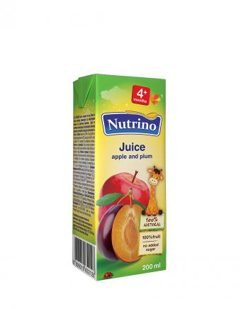Nutrino sok - jabolko, sliva - Merit