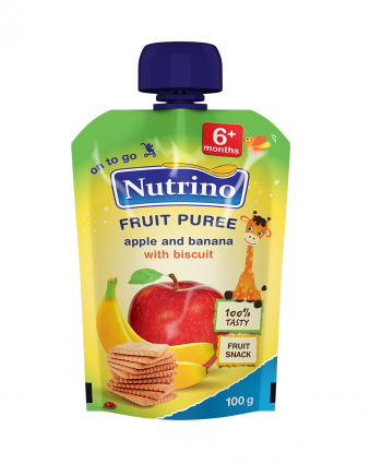 Nutrino pouch jabolko banana in keks - Merit