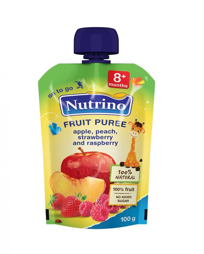 Nutrino pouch jabolko breskev jagoda in maline -Merit