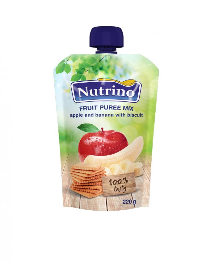 Nutrino pouch jabolko in banana s keksom - Merit
