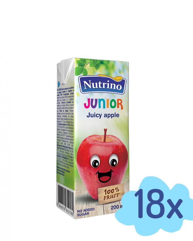 Bistri 100% sok iz jabolk z dodanim vitaminom C. Izdelan iz zgoščenega soka jabolk. Sadni delež 100 %. Pasterizirano.