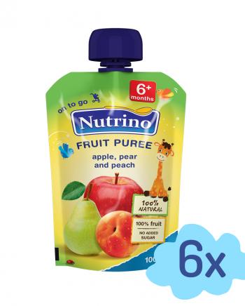 Nutrino pouch jabolko hruška breskev - Merit