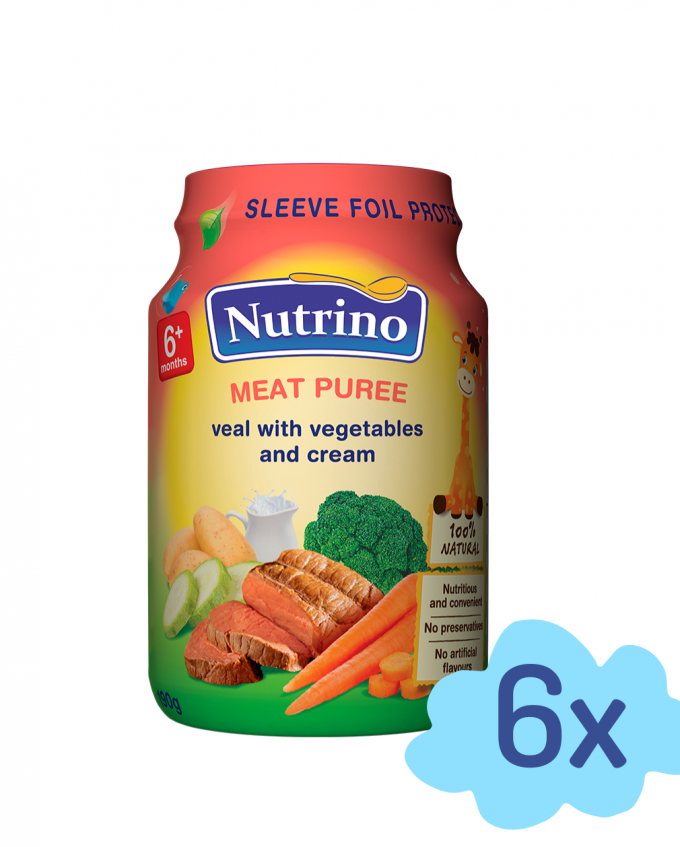Nutrino - mesni pire teletina z zelenjavo in smetano - Merit